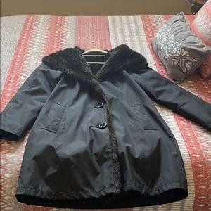 Gallery hooded black coat